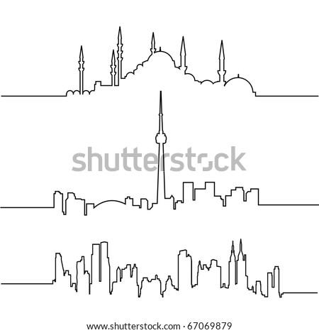 vector cityscape collection