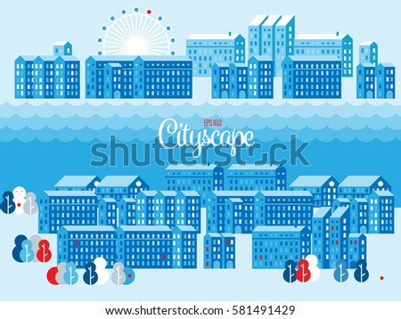 vector cityscape illustration