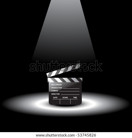 Vector Clapperboard With Light Focus On It - 53745826 : Shutterstock