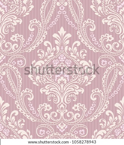 vector classic damask seamless