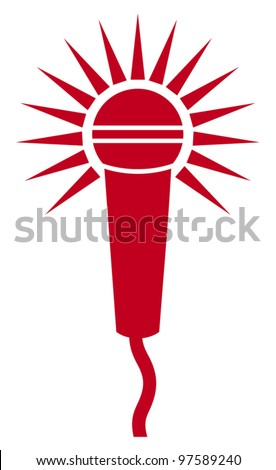 Vector Classic Microphone Symbol
