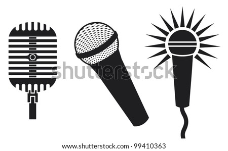 Vector Classic Microphones Icons