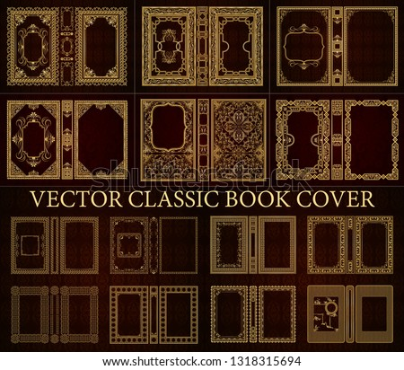 Vector classical book cover. Decorative vintage frame or border to be printed on the covers of books. Drawn by the standard size. Color can be changed in a few mouse clicks