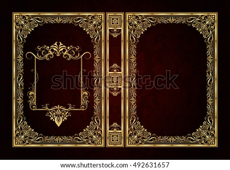 vector classical book cover