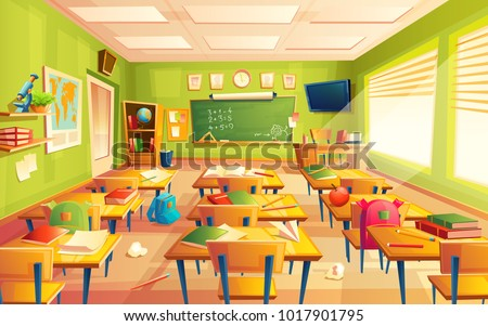 vector classroom interior