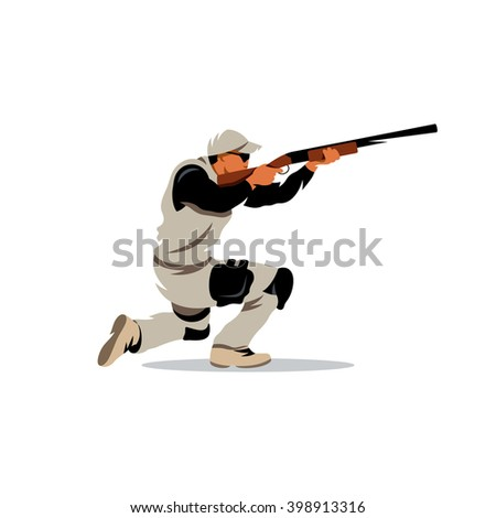 vector clay shooting cartoon