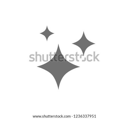 Vector clean icon.  Sparkle icon.  Stars icon.
