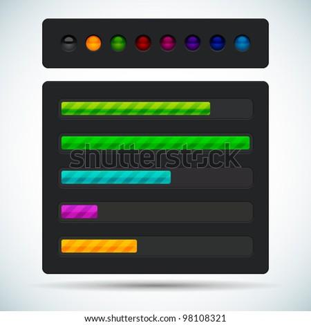 Vector clean professional Preloader Progress Web Downloading Bar