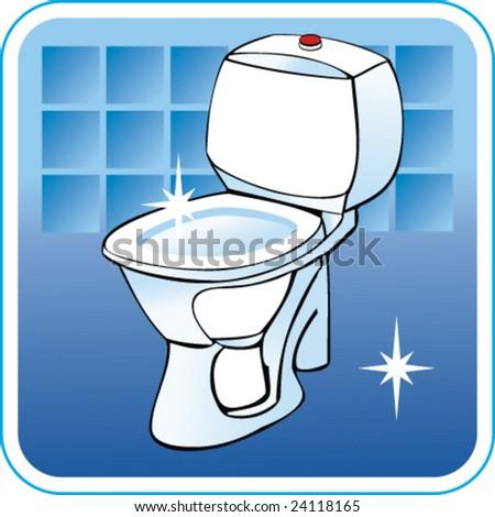Vector Clean Toilet Toilet Bowl 24118165 Shutterstock