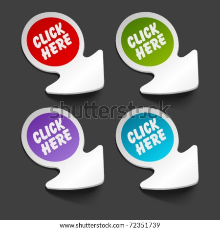 vector click here message icon