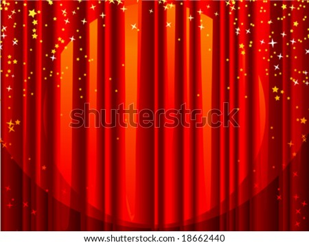 Theater Curtains clip art - vector clip art online, royalty free