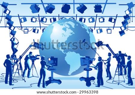 clip art tv. stock vector : Vector clip art