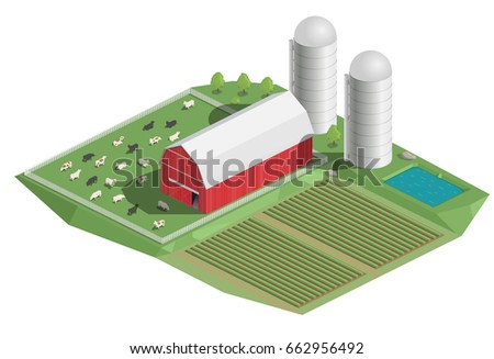 vector clipart farm country