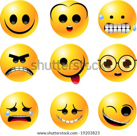 Free Clip on Stock Vector   Vector Clipart Illustrations Of Emoticon Smiley Face