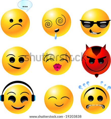 sad smiley face clip art. stock vector : vector clipart