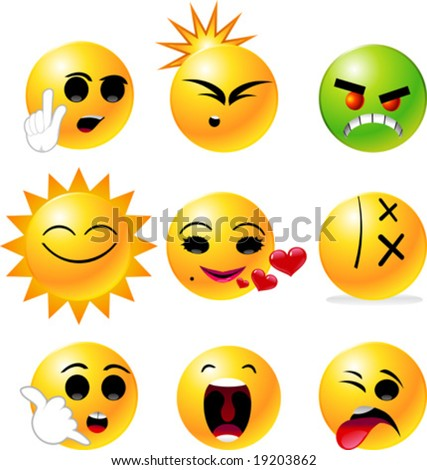 happy face clipart. of emoticon Smiley face