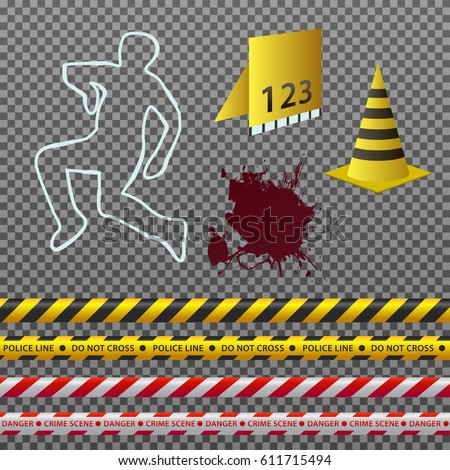 vector clipart set of crime