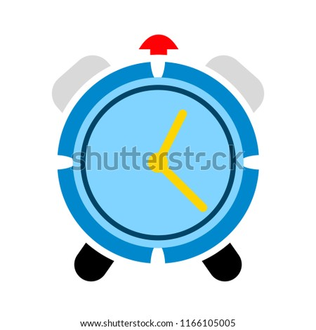 vector clock alarm illustration - time symbol, hour watch