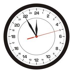 Vector clock 24 hours