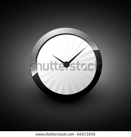 vector clock icon illustration