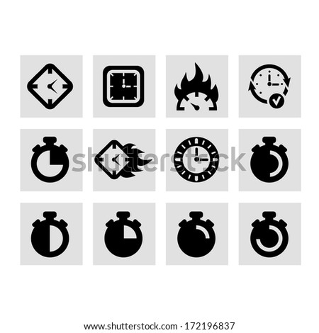 Vector Clock Icon Set for web and mobile.