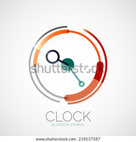 vector clock  time company logo