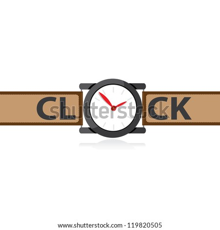 vector clocks Icon. black clock.
