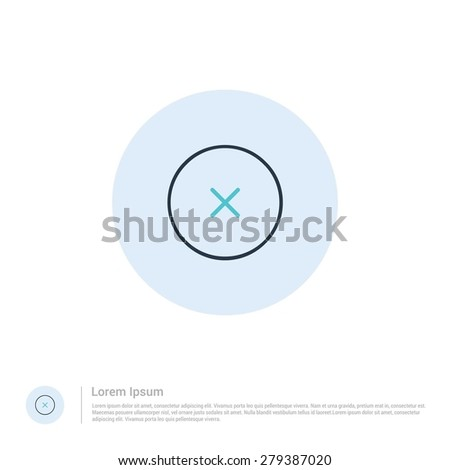 vector close icon thin line for