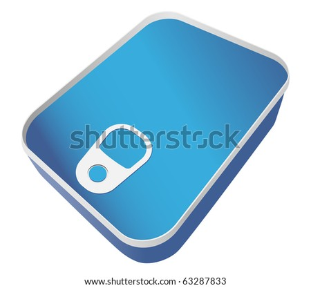vector closed sardine can to put your logo on