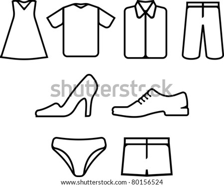 Vector clothes and shoes