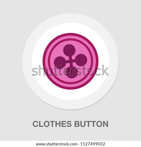 vector clothes button. clothes sewing illustration - tailor sign symbol