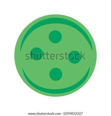 vector clothes button illustration - cloth sewing symbol, fashion icon - textile