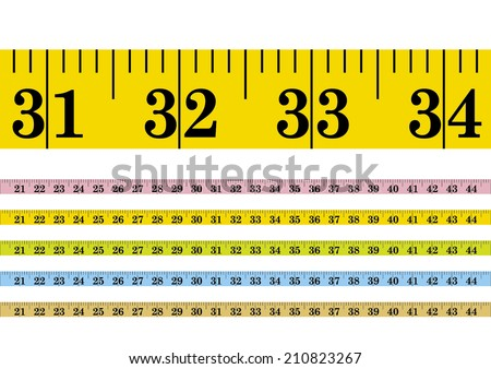 Vector clothmeasure / measuring tape