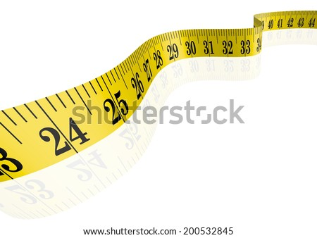 Vector clothmeasure / measuring tape 3D