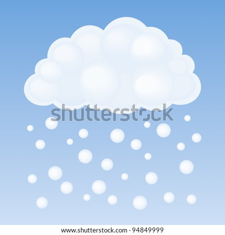 Vector cloud and snow - stock vector