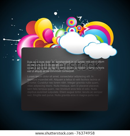 vector cloud background with