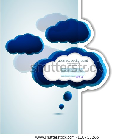 vector cloud design element