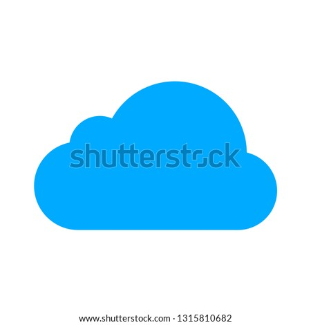 vector cloud icon cloud illustration isolated