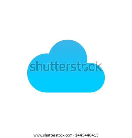 Vector cloud icon cloud illustration isolated. Clouds silhouettes. Cloudes icon isolated on white background. Cloud vector illustration Eps10. Cloudes icon flat vector illustration for logo, web, app.