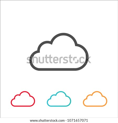 vector cloud icon colorful flat