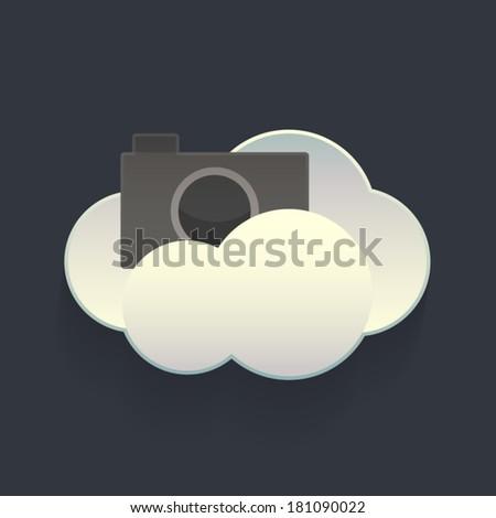 Vector Cloud Service Photo storage Element