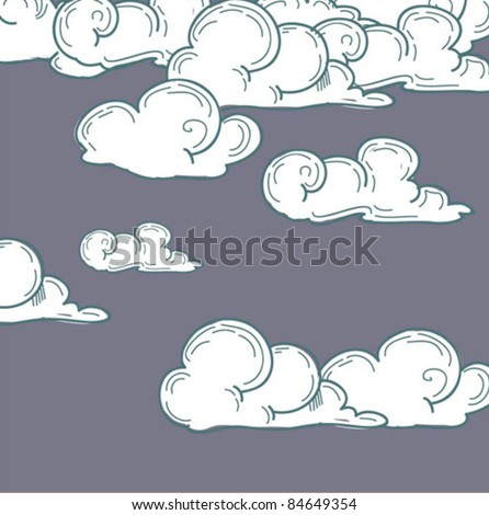 vector clouds - stock vector