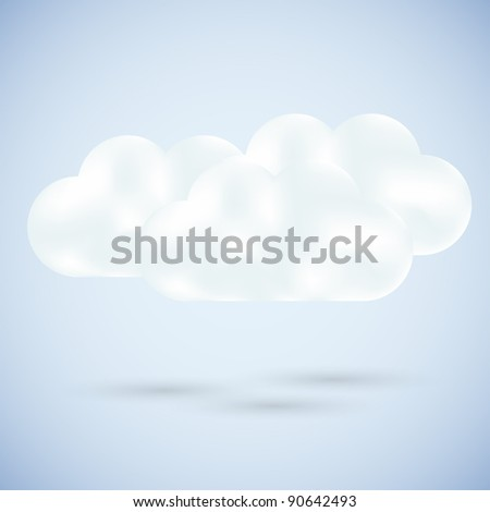 Vector clouds on blue. best choice