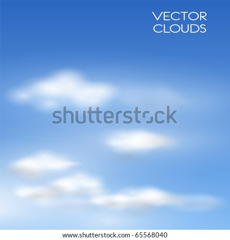 Vector clouds realistic illustration.