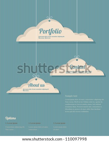 Vector clouds webdesign