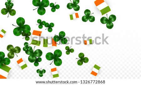 vector clover leaf  and ireland
