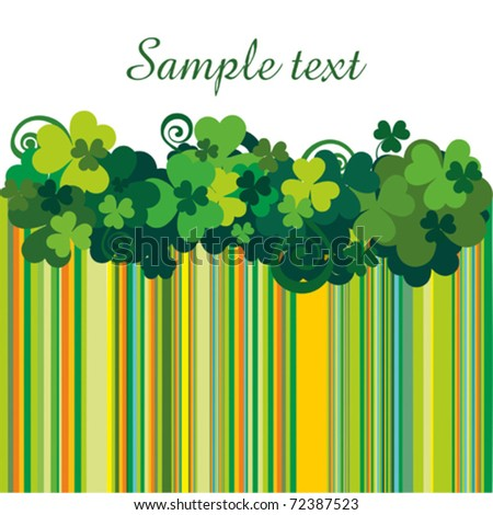 Vector clover leafs border with space for text