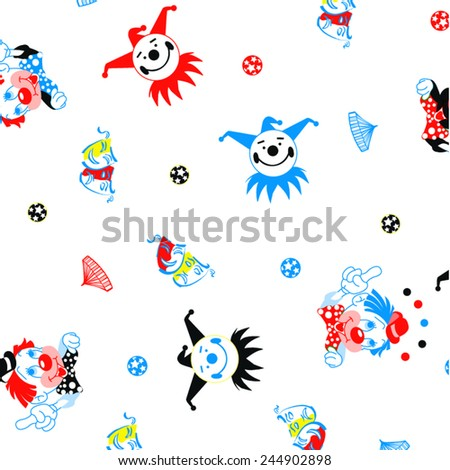 vector clown pattern