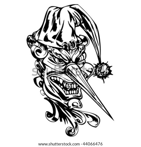 evil clown tattoos. Evil clown tattoo designs are