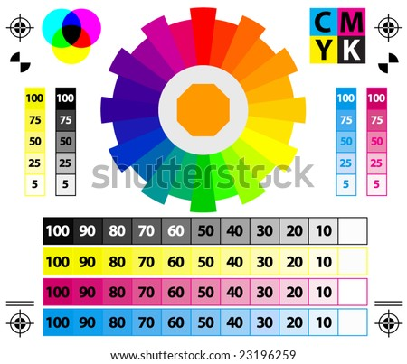 vector CMYK Press Marks